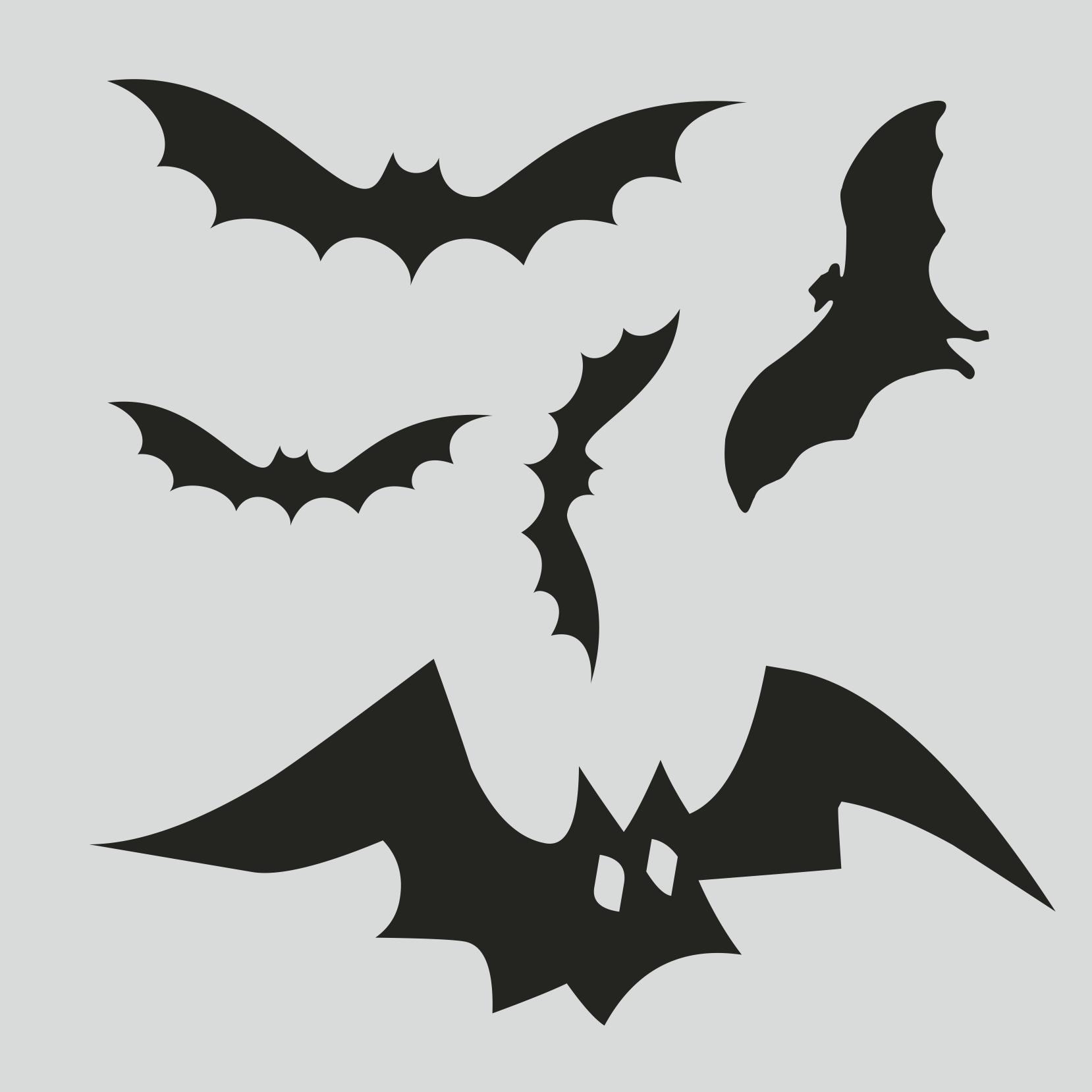 картинка летучей мыши для ерлянды на хелоуин для