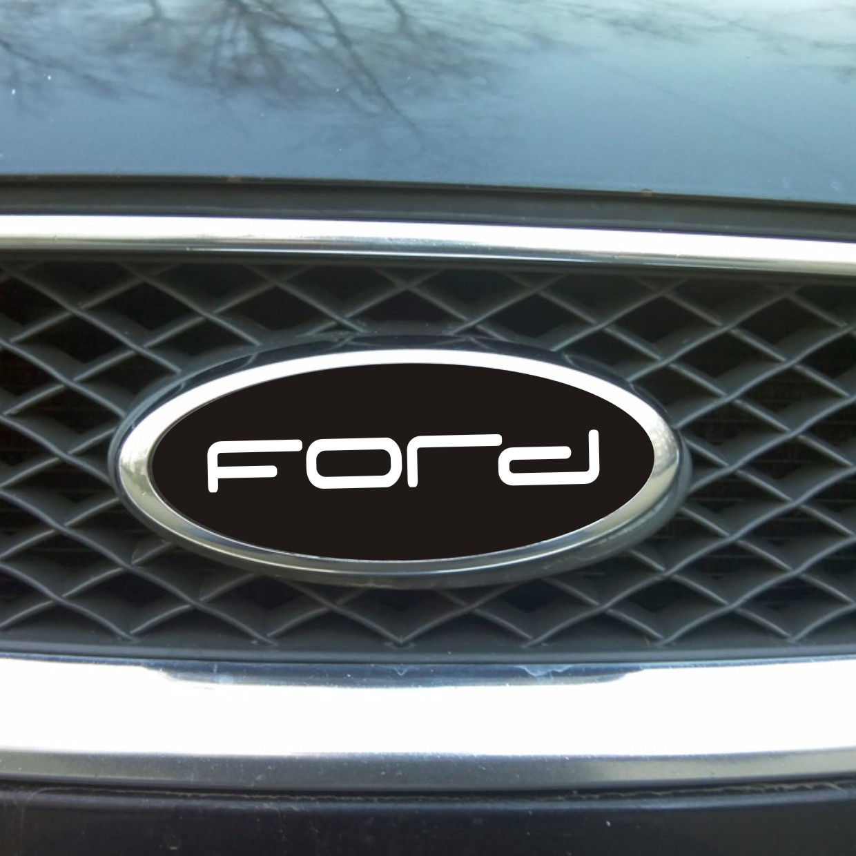 наклейка ford черная логотип